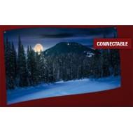 BACKGROUND CLOTH - MOUNTAIN LANDSCAPE NIGHT 150x75CM