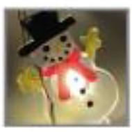 Microdot Snowman Light String, 20 White LED Lights, B.O.