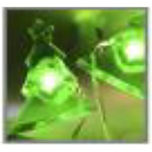 Microdot Christmas Tree Light String, 20 Green LED Lights,B.O.