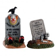 CRAZY HEADSTONES, SET OF 2