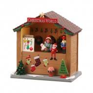CHRISTMAS WORLD BOOTH, B/O (3V), Bulk Packaged - No Box
