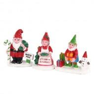 CHRISTMAS GARDEN GNOMES, SET OF 3