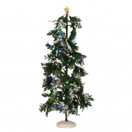 Snowy Conifer, Muliti Colour Lights, Adapter Ready, H40cm