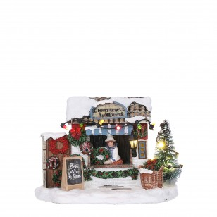 Selling Christmas Wreaths, BO, Adapter 1095287 Ready, h11cm