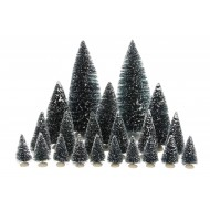 Bristle Trees, Assorted 21 Pieces