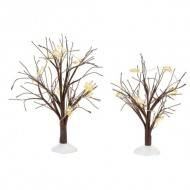 WINTER FLURRIES LIGHTED TREES SET/ 2, COMPARE AT $40