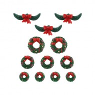 GARLAND AND WREATHS, SET OF 12