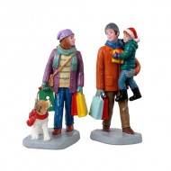 HOLIDAY SHOPPERS, SET OF 2
