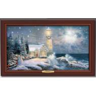 Kinkade LIGHT YOUR WAY HOME, 50 x 30cm, Over 80 Lights, Compare at $129.99