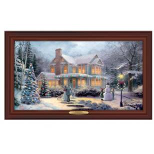 Kinkade VICTORIAN FAMILY CHRISTMAS, 50 x 30cm, Over 80 Lights, Compare at $129.99