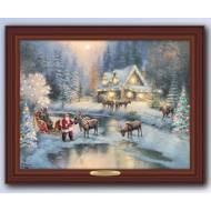 Kinkade CHRISTMAS AT DEER CREEK, 45 x 36cm, Over 80 Lights, Compare at $129.99