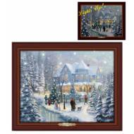 Kinkade A Christmas Homecoming, 45 x 36cm, Over 100 Lights, Compare at $149