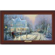 Kinkade A HOLIDAY GATHERING, 50 x 30cm, Over 80 Lights, Compare at $129.99
