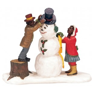 Dressing Mr Snowman