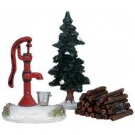 Water Pump, Tree, Firewood, Set of 3