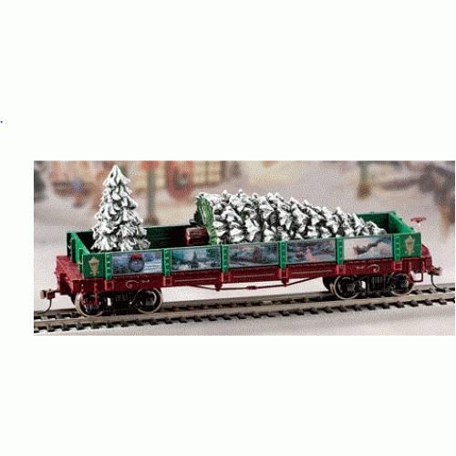 Thomas Kinkade Christmas Express Christmas Tree Gondola Car