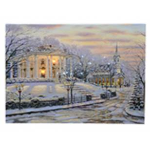 Drifting Snow on Christmas Eve, Lighted Canvas Print, 30 x 40cm