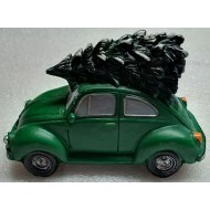 Bringing Home the Tree on our Green Beetle, Lighted Headlights, Battery Operated