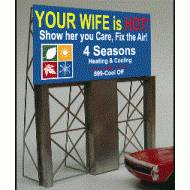 Four Season's Heating and Cooling Roadside Billboard, Assembly Required, B/O