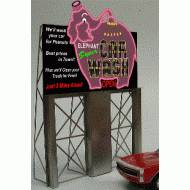 Elephant Car Wash Roadside Billboard, Assembly Required, B/O