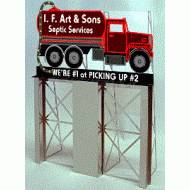I. F. Art & Sons Septic Services Roadside Billboard, Assembly Required, B/O