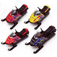 Snow Turbo Snowmobile, Set of 2, Red and Black