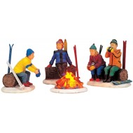 Skier's Campfire, Set of 4