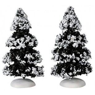 Evergreen Tree, 4 inch, Set of 2