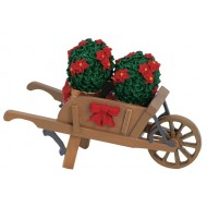 Wheelbarrow and Poinsettias