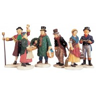 Village People Christmas Figurines, Set of 6